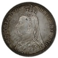 1889 Queen Victoria Silver Crown - Good Very Fine