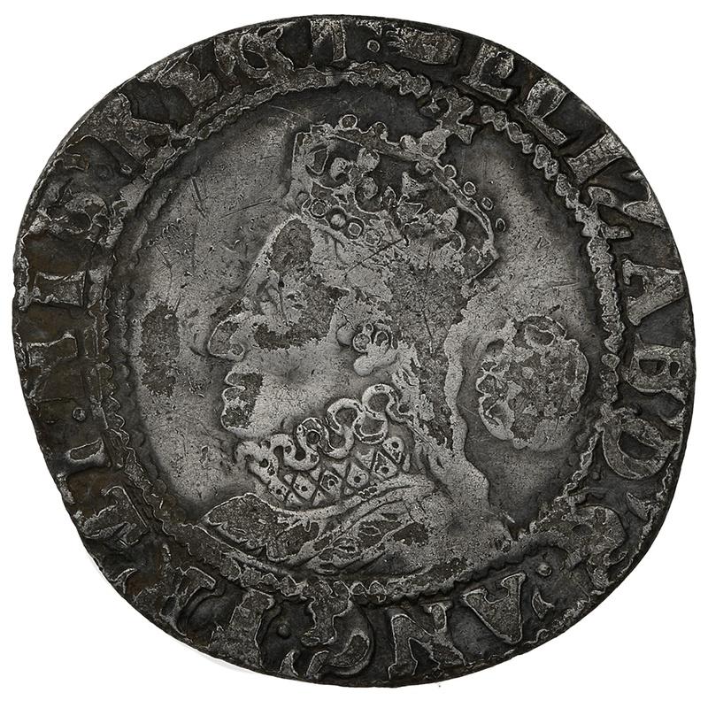 1590-2 Elizabeth I Silver Sixpence mm Hand