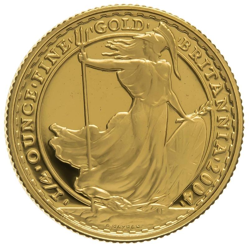2004 Quarter Ounce Proof Britannia Gold Coin