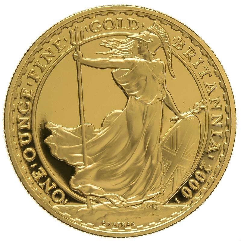 2000 One Ounce Proof Britannia Gold Coin