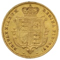 1861 Half Sovereign Victoria Young Head Shield Back - London