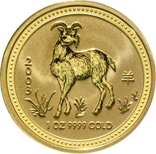2003 1oz Gold Australian Year of the Goat