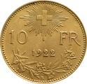 10 Swiss Franc 1912-1922