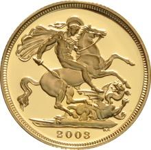 2003 Gold Sovereign - Elizabeth II Fourth Head Proof