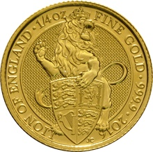 2016 1/4oz Gold Coin, The Lion - Queen's Beast