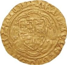 Henry V Gold Quarter Noble - Fine