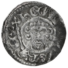 1199-1216 King John Hammered Silver Penny Rauf on London