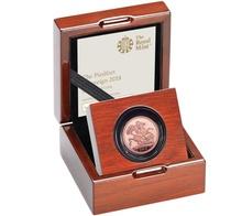 2018 Gold Proof PIEDFORT Sovereign - Elizabeth II 5th Head Boxed