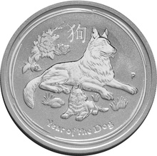 1/2oz Perth Mint Silver Year of the Dog 2018