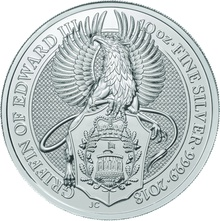 10oz Silver Coin,  The Griffin - Queen's Beast 2018