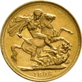 1896 Gold Sovereign - Victoria Old Head - M