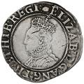1592-5 Elizabeth I Silver Shilling mm Tun