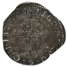 1635-6 Charles I Silver Sixpence mm crown