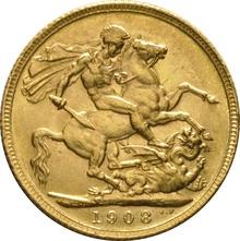 1908 Gold Sovereign - King Edward VII - London