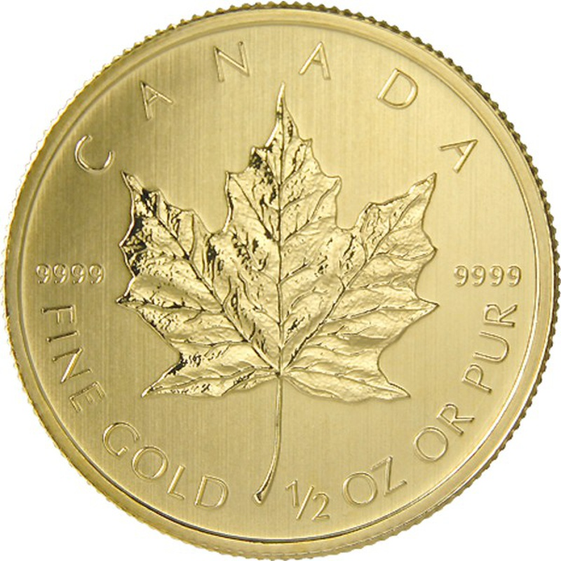2014 Half Ounce Gold Canadian Maple