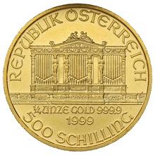 1999 Quarter Ounce Gold Austrian Philharmonic