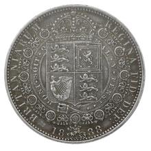 1888 Queen Victoria Silver Milled Halfcrown CGS55