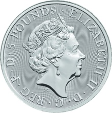 2oz Silver Coin, Unicorn of Scotland - Queen's Beast 2018 Gift Boxed
