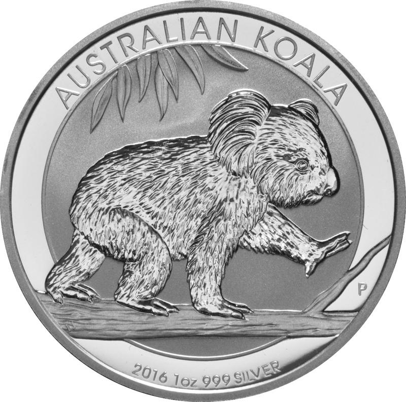 2016 1oz Silver Australian Koala