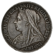 1898 Queen Victoria Silver Crown LXII
