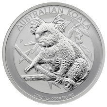 2018 1oz Silver Australian Koala