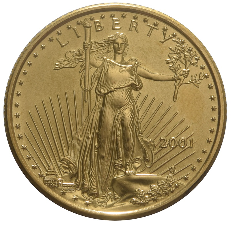 2001 Quarter Ounce Eagle Gold Coin