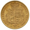 1871 Half Sovereign Victoria Young Head Shield Back - London