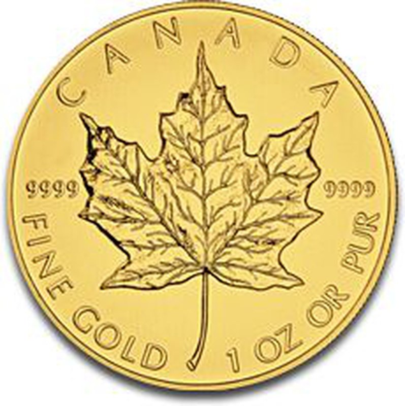 2012 1oz Canadian Maple Gold Coin