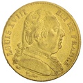 20 French Francs - Louis XVIII Uniformed Bust
