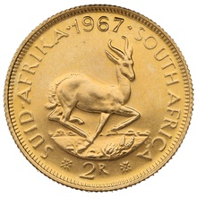 1967 2R 2 Rand coin South Africa