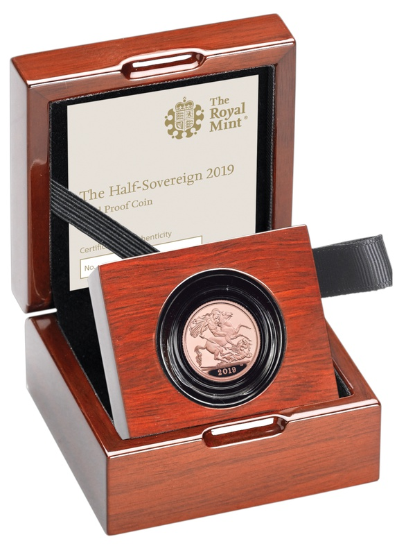 Gold Proof 2019 Half Sovereign Boxed