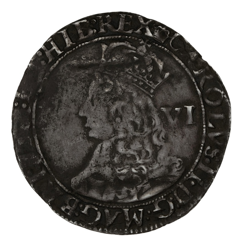 1660-2 Charles II Silver Sixpence mm crown