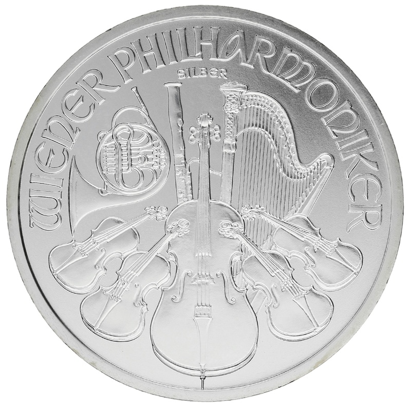 2016 1oz Austrian Philharmonic Silver Coin
