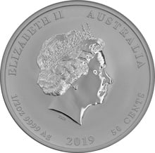 1/2oz Perth Mint Silver Year of the Pig 2019