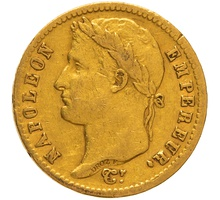 1813 20 French Francs - Napoleon (I) Laureate Head - A