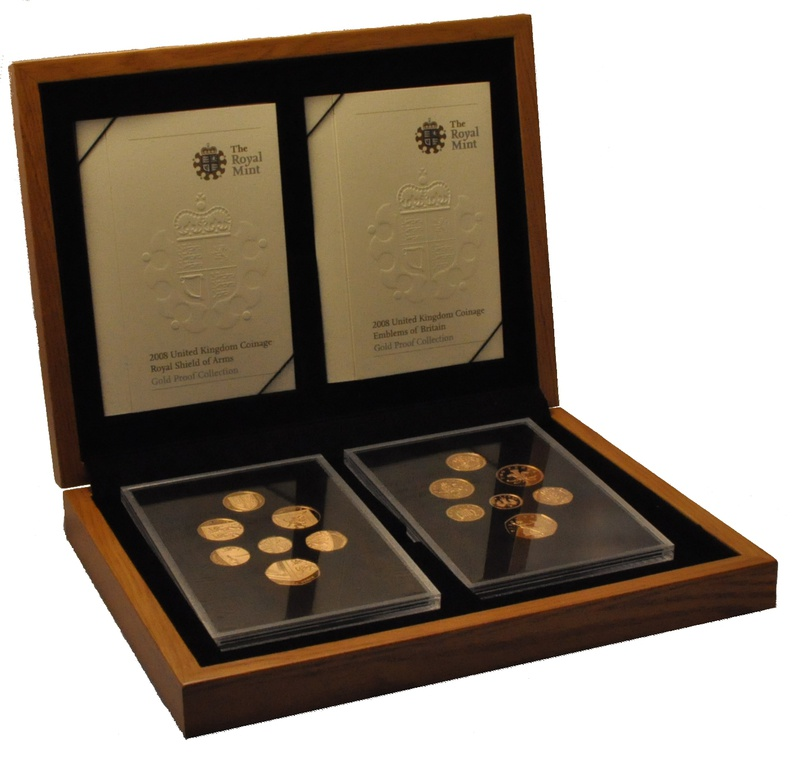 2008 UK Coinage, Shield and Emblems, Gold Proof Collection Boxed