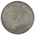 """1849 Queen Victoria Silver Florin """"godless"""""""