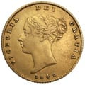 Half Sovereign Victoria Young Head Shield Back 1838 - 1887