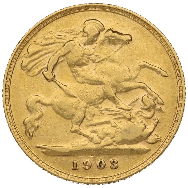 1903 Gold Half Sovereign - King Edward VII - London