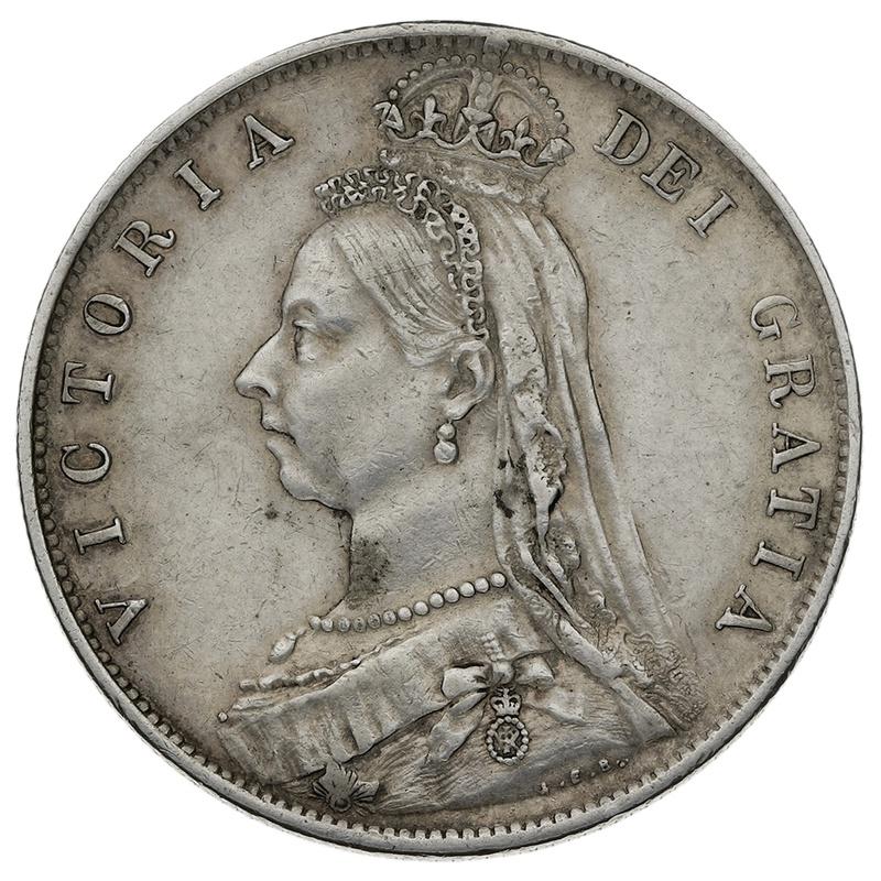 1891 Queen Victoria Silver Milled Halfcrown