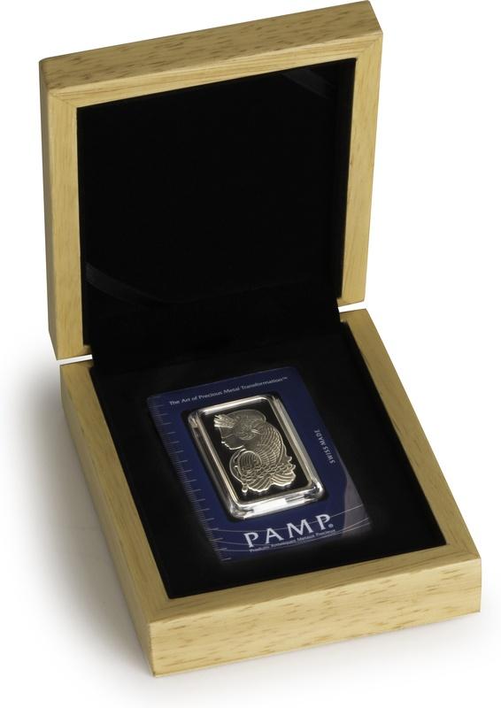 PAMP 1oz Silver Bar Gift Boxed