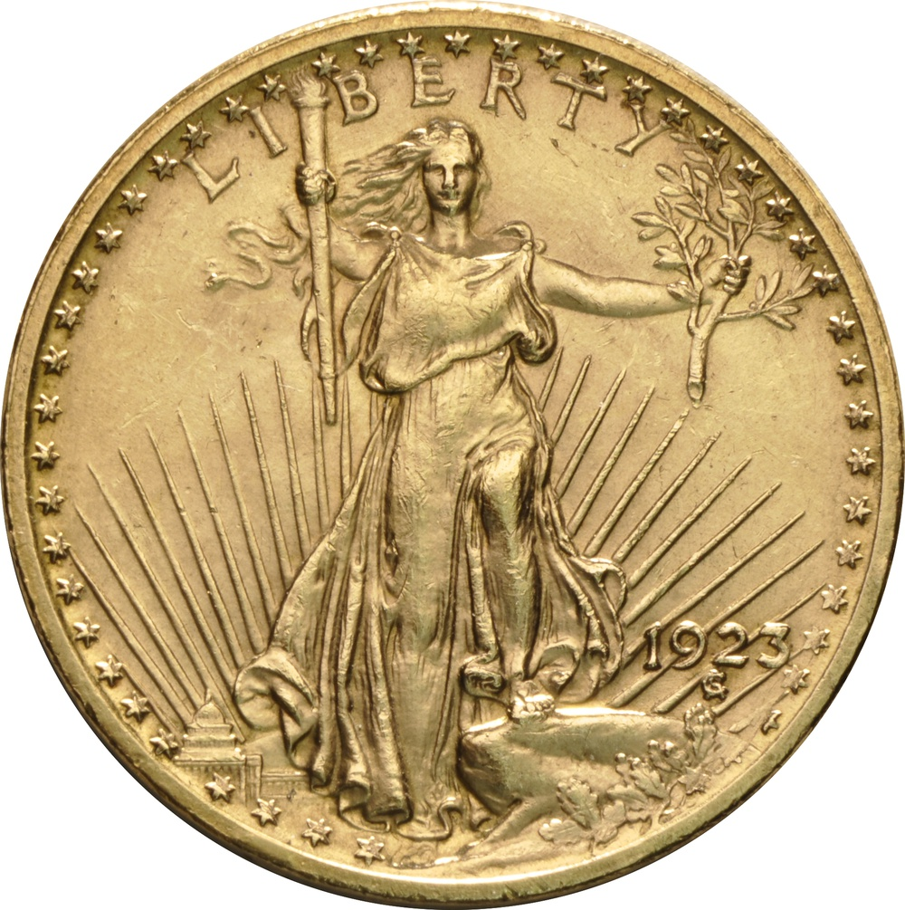 1923 twenty dollar gold coin value