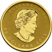 2014 1 oz Gold Reverse Proof Canadian Maple Leaf