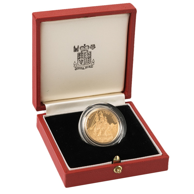 1989 Pitcairn Islands $250 Bicentenary of the Mutiny on the Bounty Gold Proof Coin Boxed