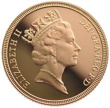 1990 Gold Half Sovereign Elizabeth II Third Head Proof