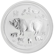 1/2oz Perth Mint Silver Year of the Pig 2019 Gift Boxed