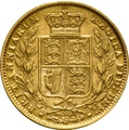 1875 Gold Sovereign - Victoria Young Head - Shield Back- S