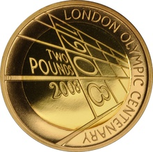 2008 £2 Two Pound Proof Gold Coin: The 4th Olympiad London 1908 Boxed