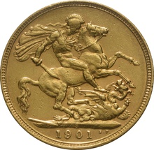 1901 Gold Sovereign - Victoria Old Head - S