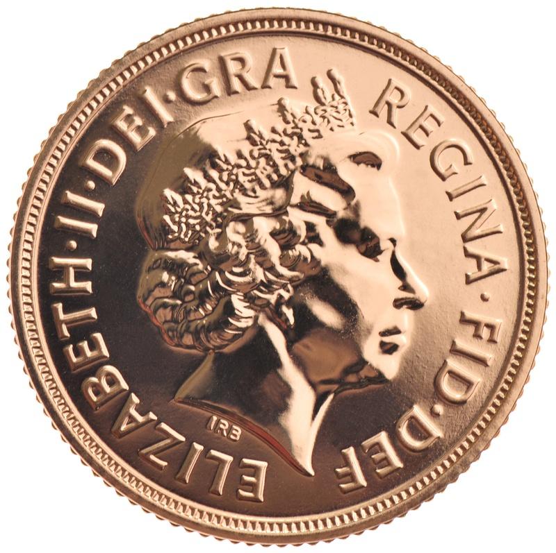 2013 Gold Sovereign - Elizabeth II Fourth Head